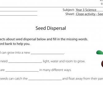 Cloze Activity – Seed Dispersal