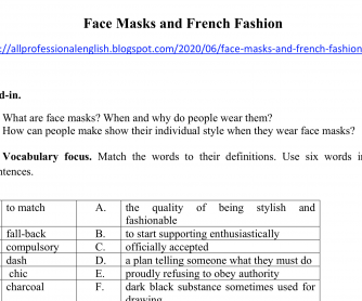 Face Masks and French Fashion