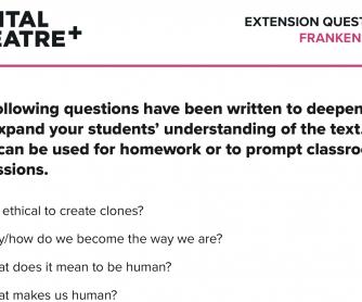 Extension Questions – Frankenstein