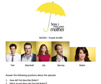 VIDEO: How I met your mother – S01E02