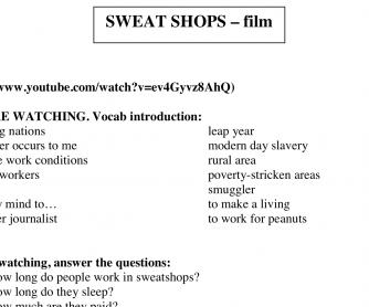 Sweat Shops