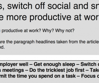 Tips To Be More Productive At Work