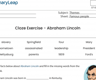 Cloze Exercise – Abraham Lincoln