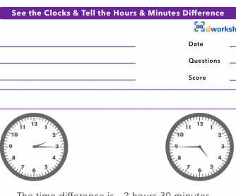 Telling The Time Difference Between Two Clocks
