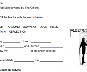 SONG – Landslide by Fleetwood Mac covered by The Chicks