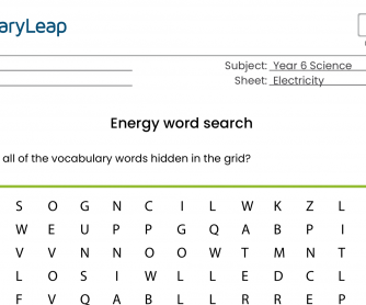 Energy Word Search