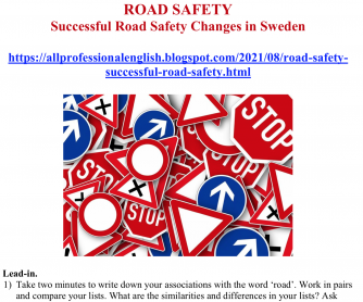 ROAD SAFETY: Successful Road Safety Changes in Sweden