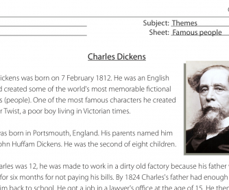 Reading Comprehension – Charles Dickens