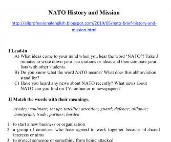 NATO: Brief History and Mission