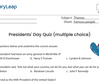 Famous People – Presidents' Day Quiz (multiple choice)