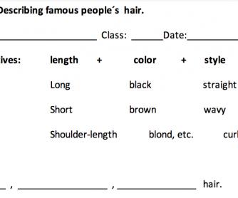 Describing famous people's hair