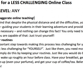 5 TIPS for a LESS CHALLENGING Online Class