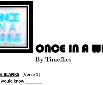 Once in a while song worksheet