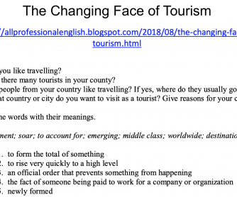 The changing face of tourism