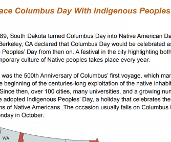 Reading Passage: Indigenous Peoples Day