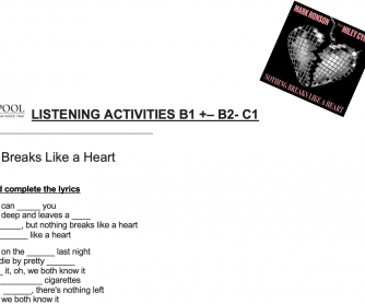 Listening Activities: Working with Songs