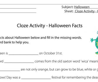 Halloween Facts Cloze Activity