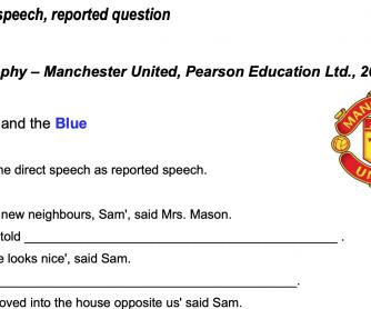 Reported Speech on Football
