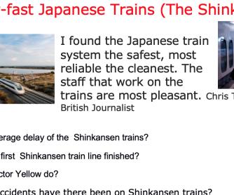 Japanese Shinkansen: Super-fast Trains