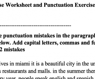 Simple present tense and punctuation usage for beginners
